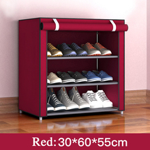 Non Woven Shoe Storage Rack Hallway Shoe Cabinet Dustproof Shoe Rack Organizer Holder 3/4/5 Layers Assembly Foldable Shoe Box practical wooden shoe cabinet closet storage rack pu seat bench entryway hallway black