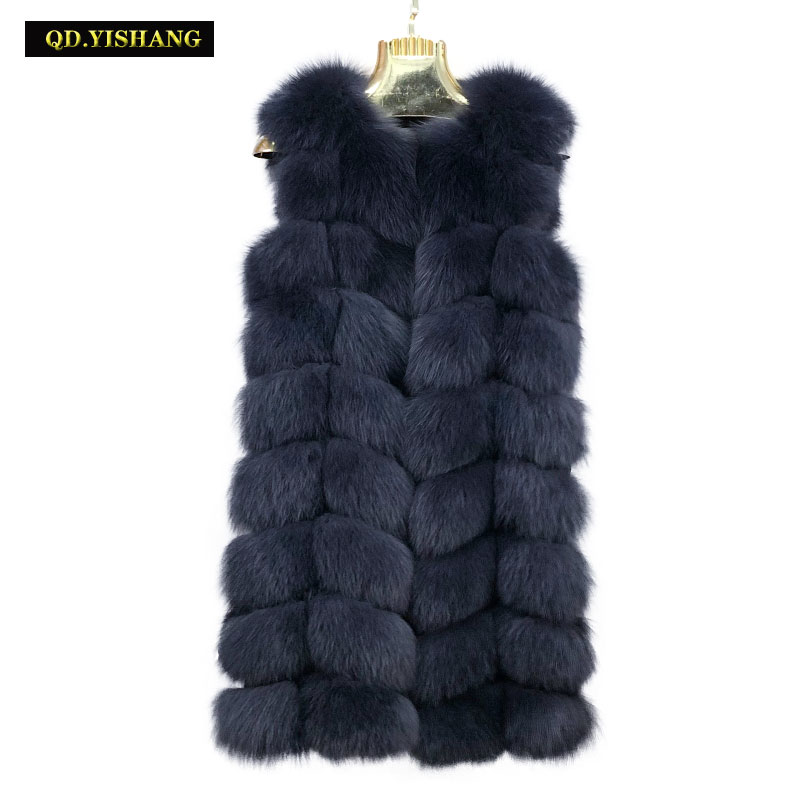 Real Fur Vest Women Winter Natural Fox Fur Vest Real Fox Fur Vest Winter Coat Winter Jackets Customizable Long Coat