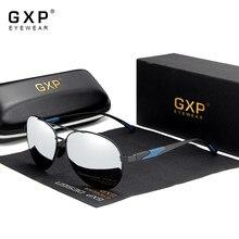 Gxp 2020 nova aviação arma gradiente óculos de sol marca homem design polarizado hd alumínio condução oculos gxp7228