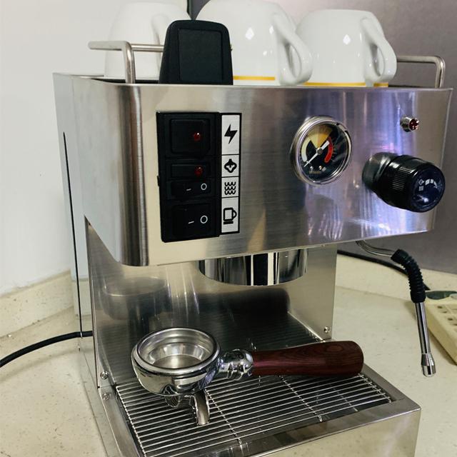 ITOP półautomatyczna 1050W kawiarka do espresso 3 5l W pełni ze stali nierdzewnej włoski ekspres do kawy spienione mleko Bubble maker tanie i dobre opinie Termiczne STAINLESS STEEL 20bar 1050W+150W IT-MT183 220-240 v Cappuccino Americano Latte Machiatto 3 5L Fancy Milk Foam Maker