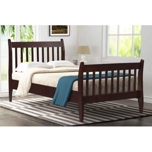 US $153.73 40% OFF Modern Pine Wood Twin Bed Frame Simple And Classic  Design Wood Frame Bedroom Furniture Bed Base on AliExpress