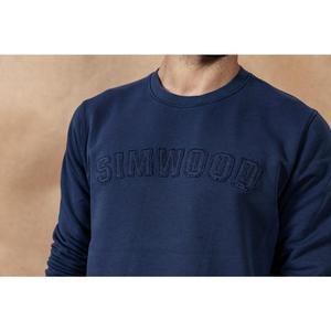 Image 5 - SIMWOOD 100% coton patchwork sweat shirt imprimé lettre hommes casual pull sweat mode survêtement grande taille à capuche 190465