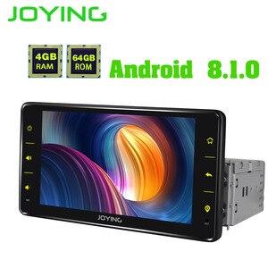 "Image 3 - JOYING GPS סטריאו אנדרואיד 8.1 רכב רדיו 4GB + 64GB BT DSP אוקטה Core 1DIN 6.2 ""אוטומטי ראש יחידה carplay SWC תמיכה 4G עם משלוח OBD"