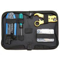 Coax Cable Crimper Kit  Compression Tool Coax Cable Crimper Kit  Adjustable Rg6 Rg59 Rg11 75-5 75-7 Coaxial Cable Stripper With