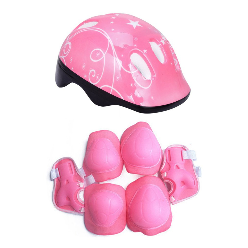 7PCS/Set Sport Toys Kids Roller Skating Helmet Knee Elbow Wrist Pad Protective Gear Set Comfortable Scooter Skate Sports Safety