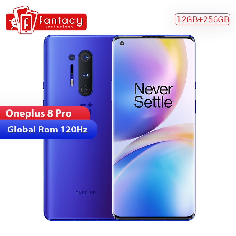 In Stock Global Rom Oneplus 8 Pro 5G Smartphone Snapdragon 865 12GB 256GB 6.87'' 120Hz Fluid Screen 30W Wireless Charging