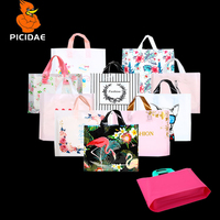 Gift Clothe Cosmetic Printing Pattern LOGO Plastic Fashion Hand Bag Organ Widen Bottom Box Shoe Store Shopping Woman's Wear Doll