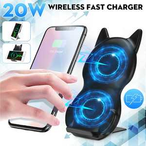 20W Qi Wireless Charger Stand for iPhone 11 Pro X XS 8 XR SamsungS9 S10 S8 S10E Fast Charge Charging Station Phone Charger