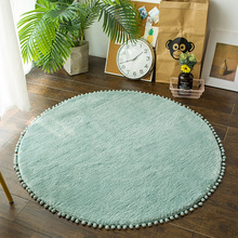 Nordic Round Rug Carpets For Living Room Pink Rugs Girls Kids Room Round Rugs For Bedroom Modern Computer Chair Mat Study Room