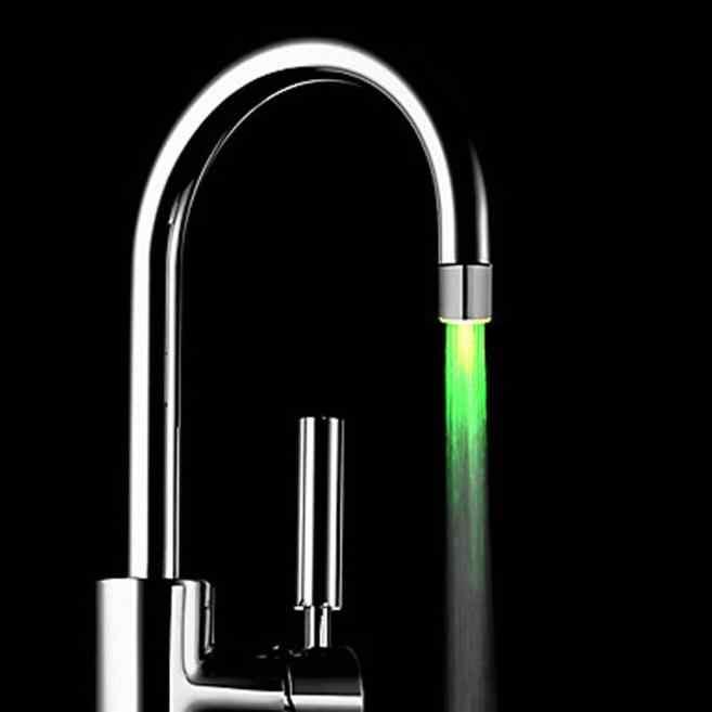 Banyo musluk romantik 3/7 renk değişimi led ışık duş başlığı su banyosu ev mutfak kızdırma ABS krom musluk gappo chuveiro F1