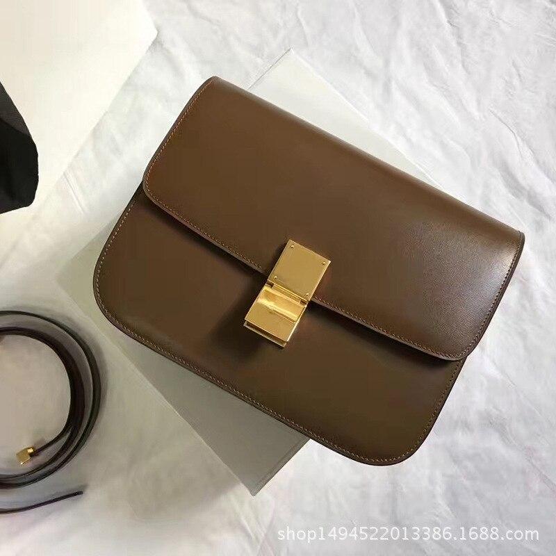 Caixa de Aleta Bolsa com Bloqueio Bolsas para as Mulheres Design de Luxo Clássico Couro Genuíno Tofu Casual Ombro Crossbody 2020 Bolsas Ajustáveis