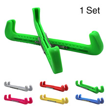 1 Pair Sports Easy Use Skate Shoe Cover Ice Hockey Parts Accessories Rustproof Blade Guard Tool Protective Adjustable Spring