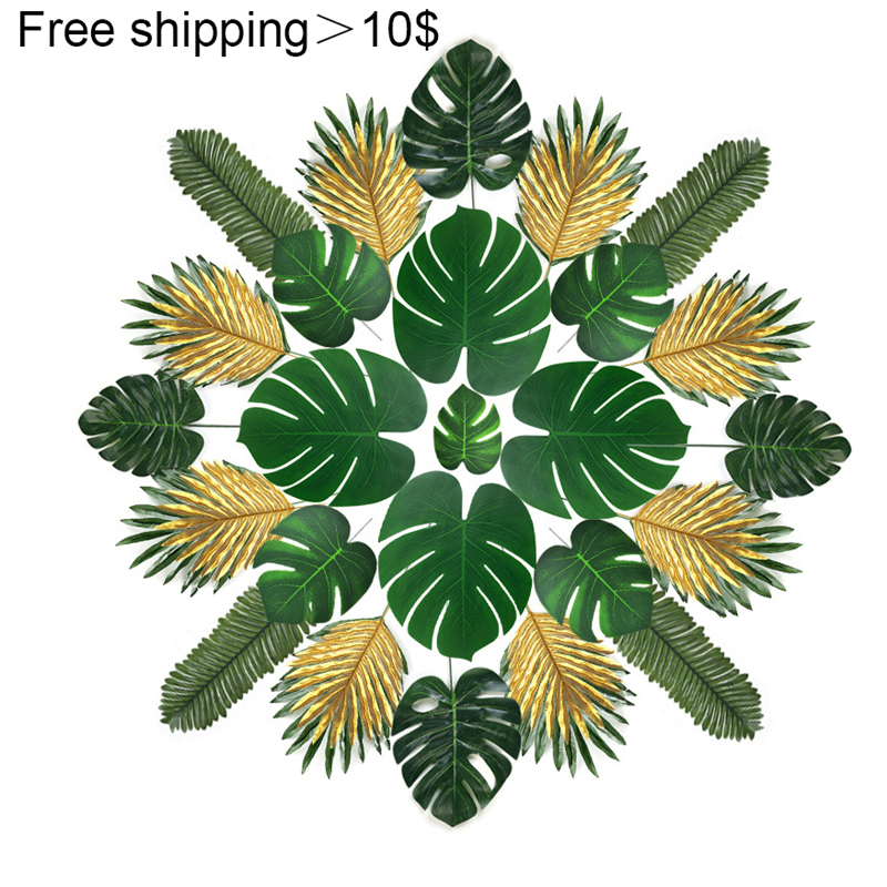 Artificial Monstera Plants Plastic Tropical Palm Tree Leaves Home Garden Decoration Accessories Photography Decorative Leaves