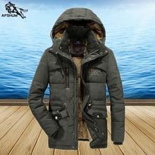 Зимняя парка, мужская куртка, размер L 6XL 7XL 8XL, однотонная куртка, Мужская Плюс Вельветовая Толстая Теплая мужская куртка, повседневные пальто с капюшоном, парка