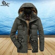 Parka de invierno para hombre, abrigo de talla L, 6XL, 7XL, 8XL, color sólido, chaqueta de terciopelo grueso y cálido para hombre, abrigos informales con capucha, parka