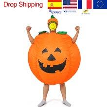 Halloween per Adulti Divertente Del Partito di Cosplay Costume Della Zucca di Halloween Zucca Gonfiabile Costume per Le Donne Gli Uomini di Halloween Rifornimenti Del Partito