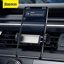 Baseus suporte do telefone do carro para o telefone móvel suporte para 4.7-6.5 polegada telefone tomada de ar montagem no suporte do carro para iphone xiaomi