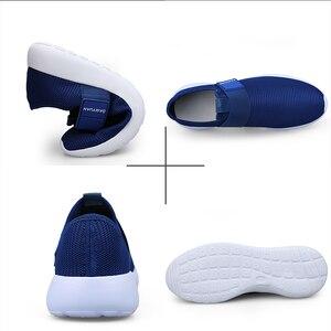 Image 5 - 2020 dos homens sapatos casuais malha leve respirável esportes tênis de corrida moda confortável sapatos homem apartamentos