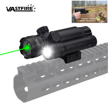 Tactical Hunting Green Dot Laser Sight Rifle Scope Barrel + Remote Drukschakelaar + Rail Mount + CR123 + wapen Light Gun Torch + 2*14250(China)