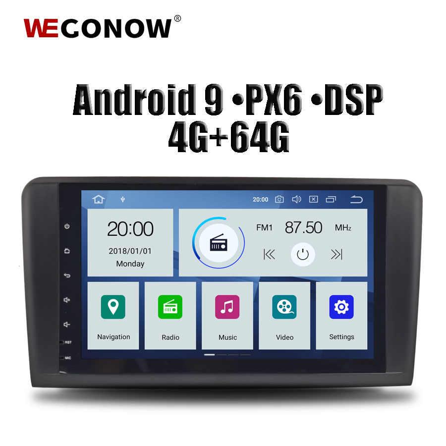 """DSP PX6 IPS 9 """"アンドロイド 9.0 4 ギガバイト + 64 ギガバイトのための車の Dvd プレーヤーラジオの Bluetooth 4.2 ベンツ W164 ML300 ML350 ML450 ML500 ML550 X164"""
