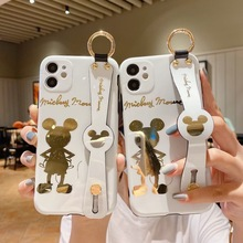 2021 Disney Mickey Minnie Plating Blu-ray Case for iPhone 11 12 Pro Max 12 Mini 7 8 Plus X XR XS Max Phone Cover Coque Shell Bag cheap CN(Origin) Cases Adult