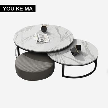 Stolik kawowy szafka TV połączenie Nordic home living roomsinsinternet celebrity włoski lekki luksusowy rozmiar okrągły stolik kawowy tanie i dobre opinie CN (pochodzenie) samodzielnie stolik do kawy meble do domu meble do salonu CHINA Nowoczesne maroko LK1305 ROUND Metal iron