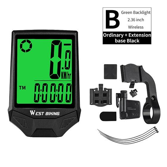 Wireless WEST BIKING Bicycle Computer MTB Road Bike Speedometer Odometer