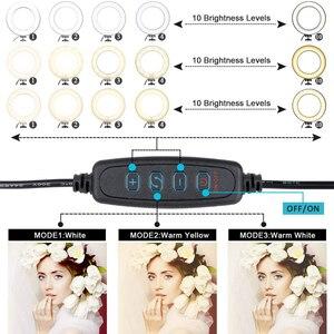 Image 4 - 写真照明16センチメートル/26センチメートルリングランプled調光可能リングライト3200k 5600 18k youtubeのビデオメイクtik tok selfieライト
