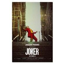 Фильм Джокер Шелковый плакат Джокер происхождения фильм Художественная печать комиксы Настенный декор картины Бэтмен Хоакин Феникс фильм плакаты