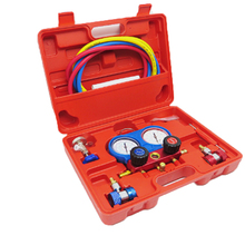 Air Conditioning Cooling Kit for R134A AC Pressure Gauge Set Automatic Repair Kit Fluoride Replenishment Repair Tool