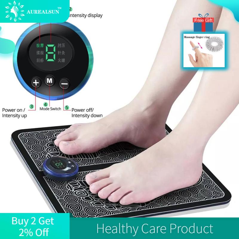 Massager do pé esteira massageador pes eletroestimulador elétrico muscular ems cuidados de saúde relaxamento fisica massagem dos