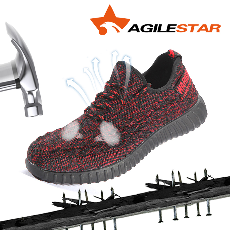Steel Toe Shoes Sport Sneakers Factory Worker Anti Smashing Hiking Boots Outdoors Men Safety Breathable Slip Resistant Working