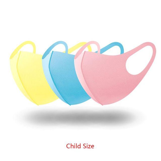 3Pc Sponge Mouth Mask Washable Dustproof Reusable anti-pollen Face Mask Adult Kid for Adult Kids Health 2