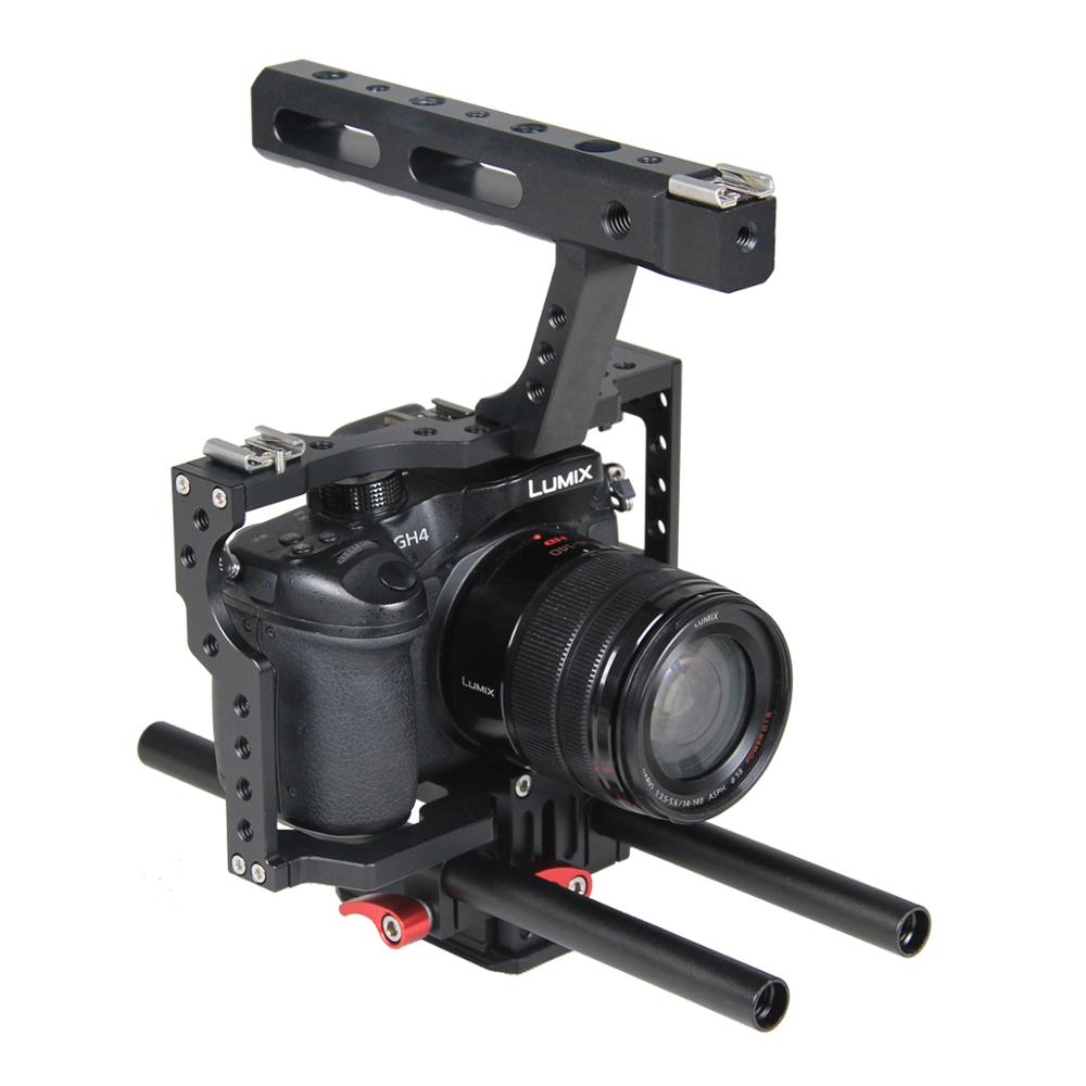 Small Digital Camera Rig Live Making for Sony Alpha A7 Series Fit fits A7 A7II A7S A7SII A7R II Panasonic GH4 Video Camera Cage