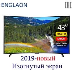 Телевизор 43 дюймов ENGLAON UA430SF led Телевизор smart tv изогнутые ТВ s Smart + ТВ цифровой телевизор Android 7 .0