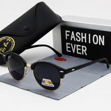 Gafas de sol polarizadas para hombre y mujer, lentes de sol unisex con marco grande, diseño Vintage, a la moda, con UV400