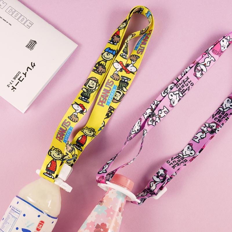 Japanese Korean Sesame Street Mineral Water Beverage Bottle Suspender Strap Portable Cup Lanyard Back Hose Buckle 3