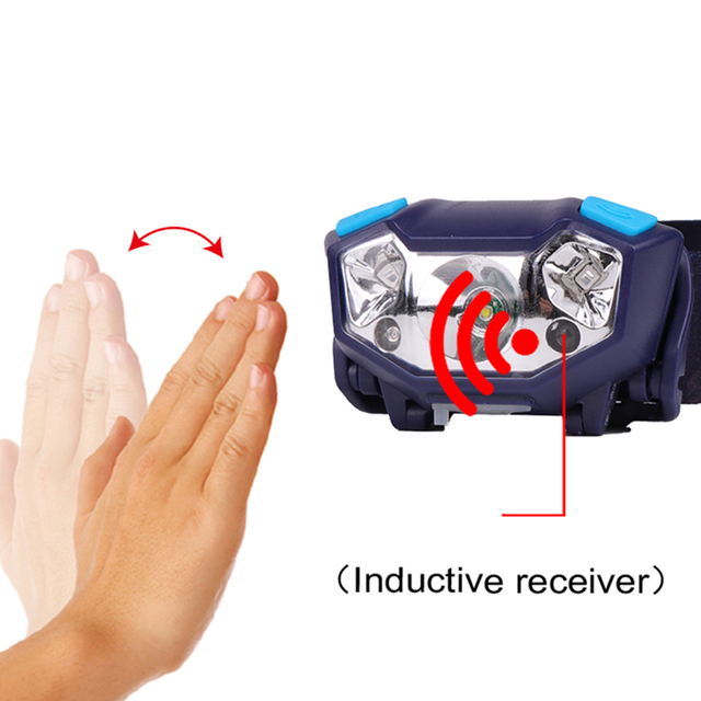 T19 CREE XP-G Q5 4000lm Mini Rechargeable LED HeadLamp Body Motion Sensor LED Bicycle Head Light Lamp Outdoor Camping  With USB