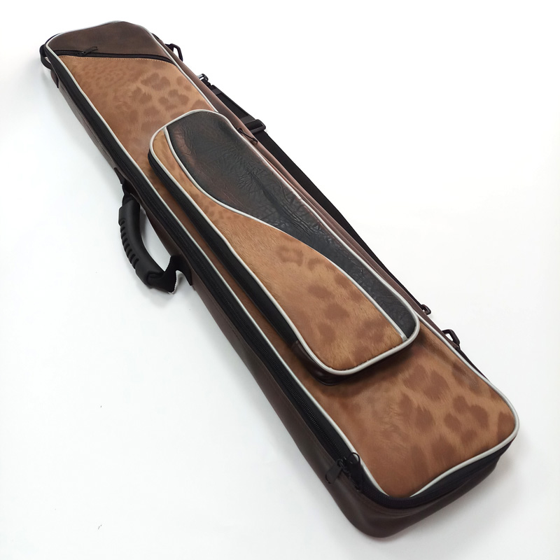xmlivet latest PU leather 8holes Billiard cue bags High quality economic 3B5S Leopard design Pool cue case Billiards accessories
