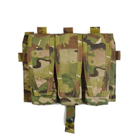 Delustered Crye CP Detachable Flap Triple M4 Mag Pouches Panel for AVS CPC JPC TW-M039