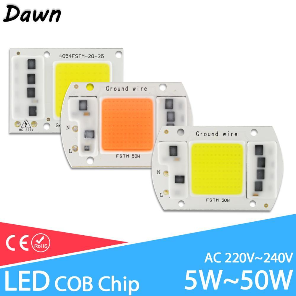 LED COB Grow Light /UV Full Spectrum/Warm/Cold White AC 220V 240V 20W 30W 50W 100W For Flower Plant Growth