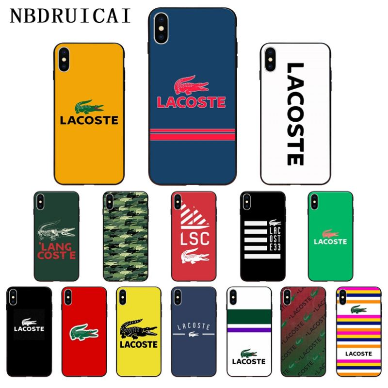 NBDRUICAI French Luxury Brands LACOETE High Quality Phone Case For IPhone 11 Pro XS MAX 8 7 6 6S Plus X 5 5S SE XR Case