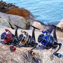 JITAI Meteor Spinning Reel Aluminium Handle Max Drag 8KG 9+1BB And Spool 5.2:1 Speed Multicolor Wheel Carp Fishing Reels