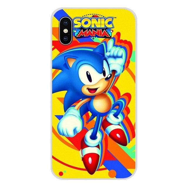 Akcesoria obudowa na telefon okładki Sonic Mania plakat na Apple iPhone X XR XS 11 pro MAX 4S 5S 5C SE 6S 7 8 Plus ipod touch 5 6