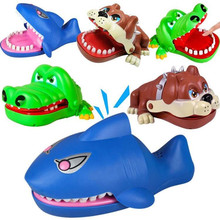 Mouth Dentist Bite Finger Toy Large Crocodile Pulling Teeth Bar Games Toys Kids Funny Toy For Children Gift Big shark fierce dog(China)