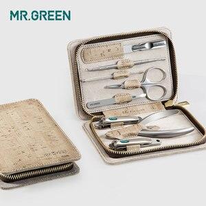 Image 4 - MR. GRÜN 8 in einem pflege kit Nail clipper set kappe finger schere set edelstahl nagel cutter schere maniküre werkzeuge