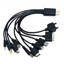 1pc 10 em 1 carregador multifuncional cabos usb para ipod motorola nokia samsung lg sony ericsson cabos de dados eletrônicos de consumo