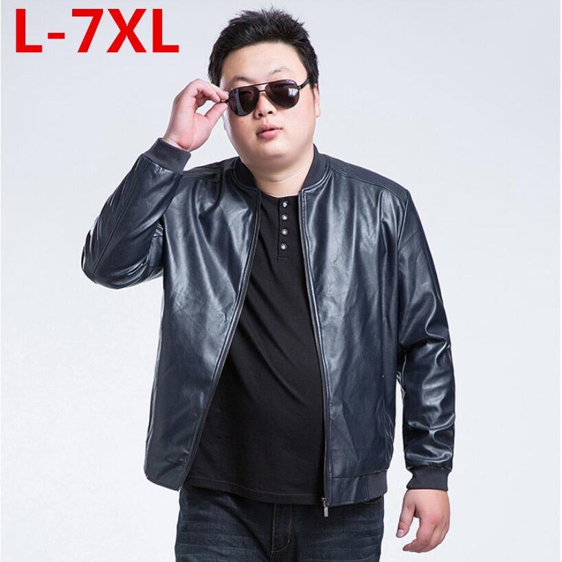 Лидер продаж Новый размера плюс 7XL 6XL 5XLman кожа и осеннее пальто для мужчин бренд высокого qualitymen куртка Бесплатная доставка
