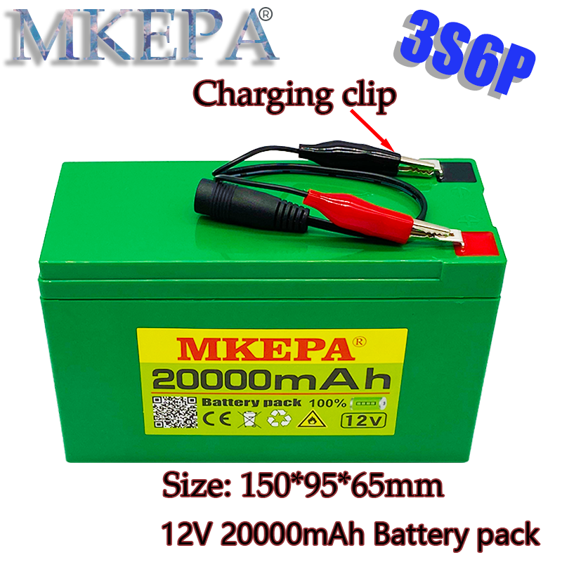 new pattern12V 20Ah 3S6P 18650 lithium battery pack built-in 20Ah high current BMS, used for sprayer, 12.6V20000mAh
