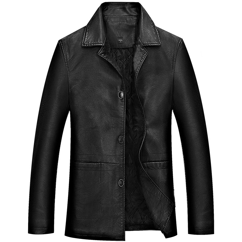 Plus Size 4XL Leather Jacket Men Winter Business Soft Leather Jackets Male Casual Coats Man Thick Parkas Casaco Masculino